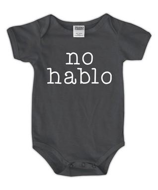 55148be3e3915 Charcoal 'No Hablo' Bodysuit - Newborn & Infant