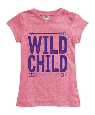 7053322e087 Heather Pink 'Wild Child' Fitted Tee - Toddler & Girls