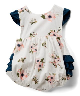 d6055da24401 White   Pink Floral Ruffle Bubble Bodysuit - Infant   Toddler