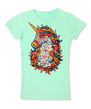 a7ab4a3f0 Mint Coloring Book Unicorn Fitted Tee - Toddler & Girls