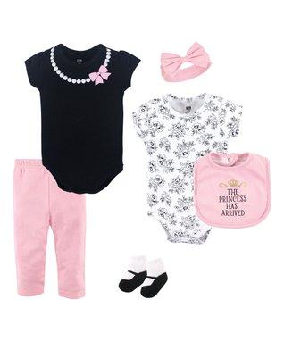 37f654ab07b Light Pink   Black  Princess Has Arrived  Six-Piece Layette Set - Newborn    Infant