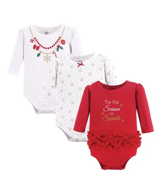 d163f731db5f White & Red 'Tis the Season' Bodysuit Set - Infant