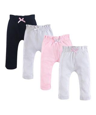 892287ca08e Gray   Pink Four-Pair Organic Cotton Joggers Set - Infant