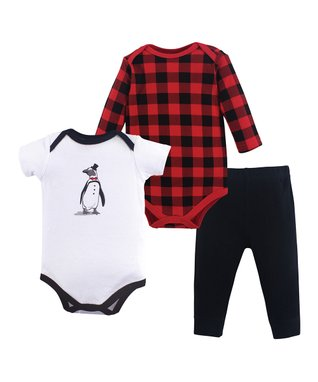16ed579d67c White Penguin Three-Piece Bodysuit Set - Newborn   Infant