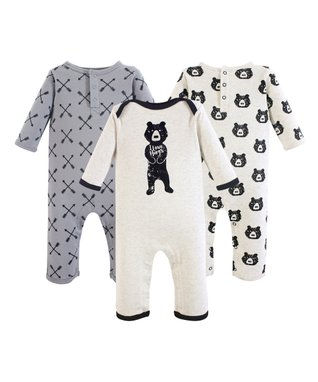 28ea588bab8c White  Bear Hugs  Playsuit Set - Infant