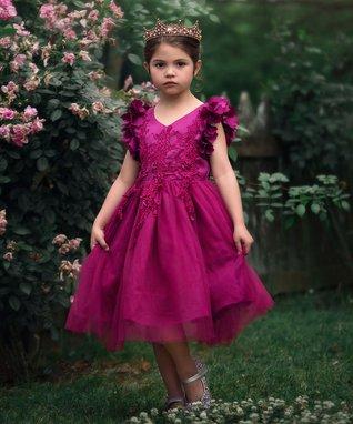 13ce507f898 Berry Bianca Angel-Sleeve Dress - Infant