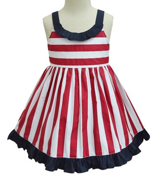 641bf15ef76cf Red & Navy Stripe Julie Dress - Infant, Toddler & Girls