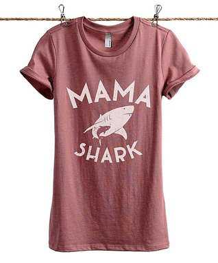 55f6d982b40 Heather Rouge  Mama Shark  Tee - Women