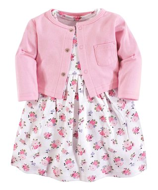 2f81e8bdb8d Pink Floral Dress   Cardigan - Newborn   Infant