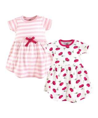 0b3ae2cef8d26 Pink Petals A-Line Dress   Pink   White Stripe A-Line Dress - Infant   Girls
