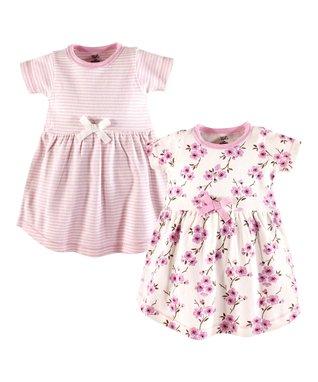 4a586362b38a Pink Cherry Blossom Organic Cotton A-Line Dress Set - Infant