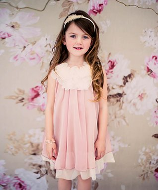 7b69dacc1d Pink   White Floral Yoke Dress - Toddler   Girls