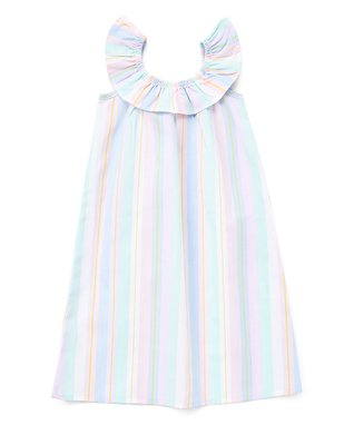 b6d70480e Blue & Mint Stripe Yoke Dress - Toddler & Girls