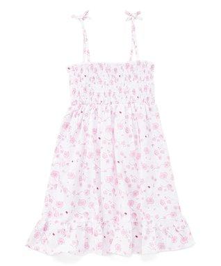 570440d1c698 Pink Floral Ruffle-Hem Sleeveless Dress - Toddler & Girls