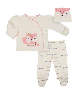 7b8e392a38b0 Coral Fox 'Hello World' Organic Cotton Button-Up Top Set - Newborn & Infant