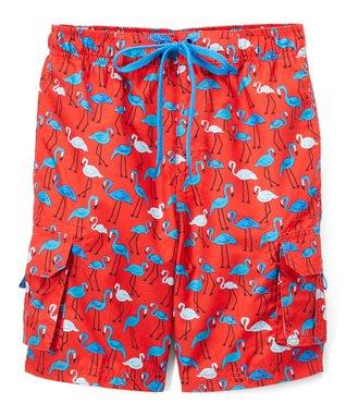 f8fc01582 Red Key West Flamingo Swim Trunks - Infant, Toddler & Boys