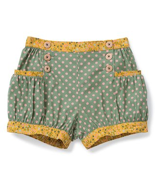 f0cad4bf4604 Green   Yellow Green Thumb Bubble Shorts - Girls