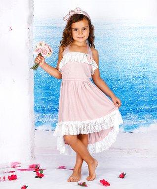92f34aefaa4 Dusty Pink Ruffle Hi-Low Dress - Toddler   Girls