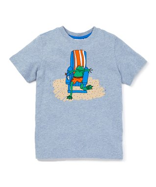 19b5f90c6 Heather Blue Beach Frog Graphic Tee - Toddler & Boys