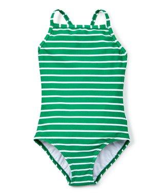 c68681d5 Go Green Stripe Sunblock One-Piece Swimsuit - Toddler & Girls