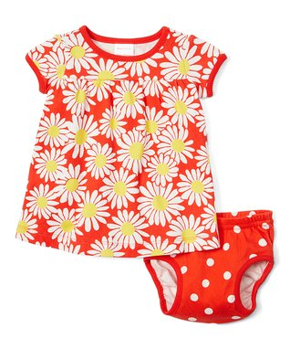 87d9f06a863 Tangy Red Daisy Dress   Diaper Cover - Infant   Toddler