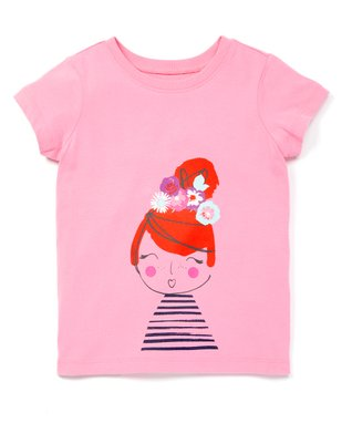 d148e73d0 Fresh Pink Flower Girl Cotton Graphic Tee - Toddler & Girls. Tangy Red Short -Sleeve Rainbow Dress ...