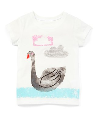 7d72f0b8 Hanna White Goose Cotton Graphic Tee - Toddler & Girls