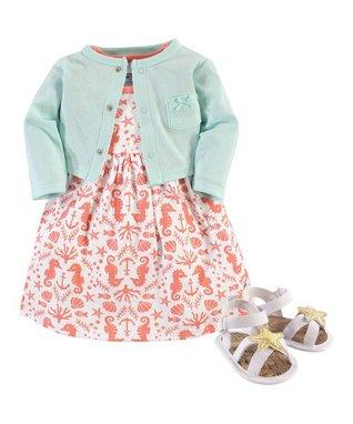 Sea Sleeveless Dress Set - Newborn & Infant