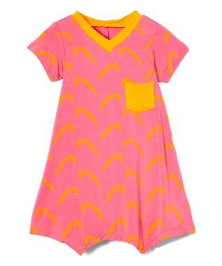 Kidzone Girls Toddler//Little Girls Neon Pink Lace Dress Size 2T 3T 4T 4 5 6 6X