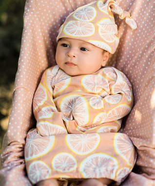 5d51ebadf9a Pink Grapefruit Organic Cotton Knotted Beanie - Infant