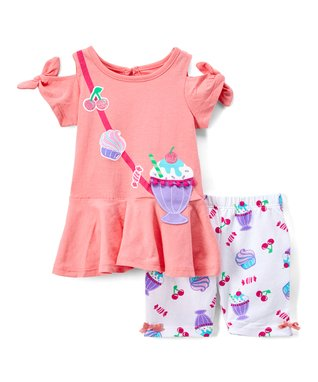 fbb9fe24a28a8 Coral Milkshake Tunic & Lavender Ice Cream Leggings - Infant & Toddler