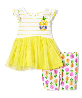 baaf4cd20c7 Yellow Pineapple Pocket Tunic   Pineapple Print Bike Shorts - Infant