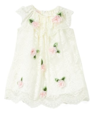 f648df35c9b Ivory Floral-Accent Ruffle-Collar Dress - Infant   Toddler