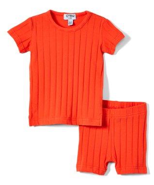 0283ade5c Coral Ribbed Crewneck Tee & Shorts - Infant, Toddler & Kids