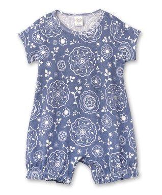 257728a5cd7ca Blue Floral Batik Bubble Romper - Newborn & Infant