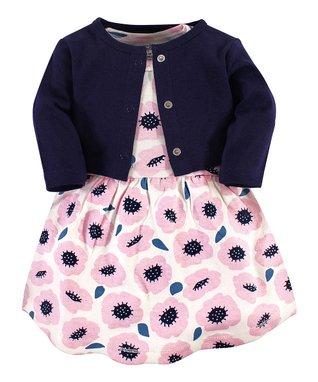 5d1a5d3b6 Pink Blossom A-Line Dress & Black Cardigan - Newborn, Infant, Toddler &  Girls