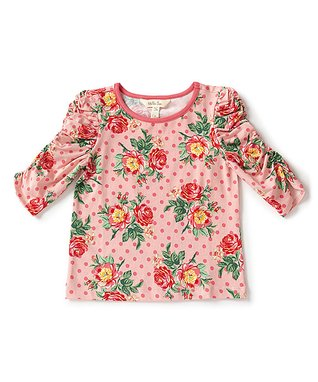 Girls floral horse any name embroidered Bright yellow  Personalised T-shirt gift