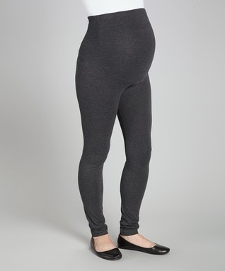 6deed1106e Charcoal Over-Belly Maternity Leggings - Plus Too
