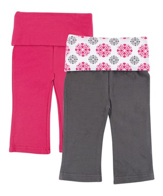 0f0d3342222 Pink   Gray Sweatpants Set - Newborn   Infant