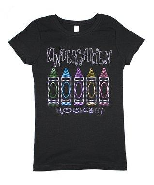 bb4075f5c0e Black Bling 'Kindergarten Rocks' Tee - Girls