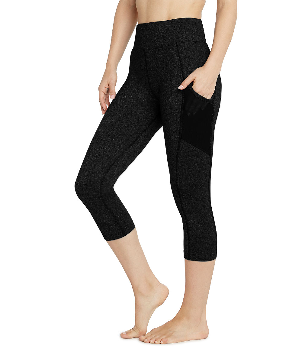 a062916c3aa6 L.A.M. Black Emma Core-Control High-Waist Pocket 7/8 Capri Leggings - Women