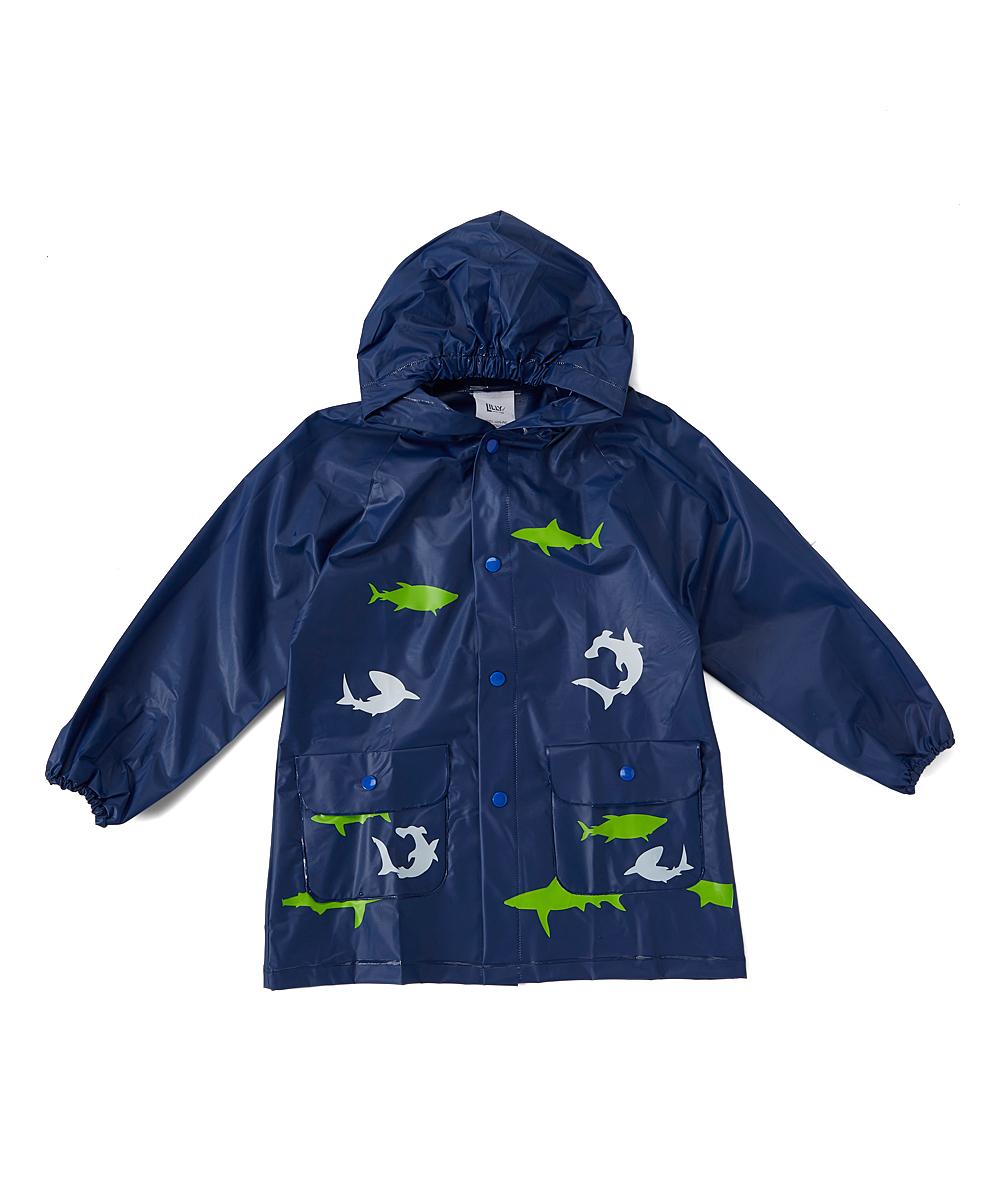 199d74c1f LILLY of NEW YORK Blue Shark Rain Jacket   Zulily