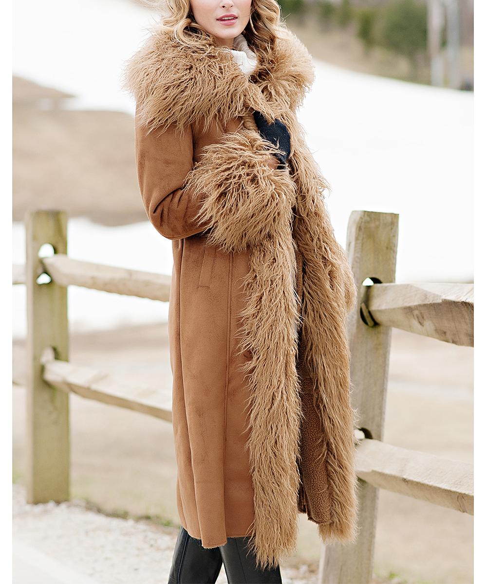 de338699790 Donna Salyers Fabulous-Faux Furs Tobacco Collar Faux Suede Full ...