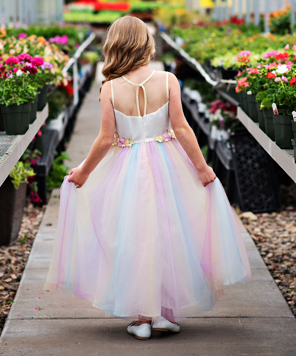 3cc872bd6 Just Couture Rainbow Tulle Unicorn Dress - Toddler & Girls | Zulily
