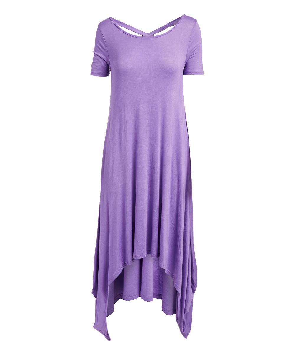 d6919f93c22 all gone. Purple Crisscross-Back Maxi Dress