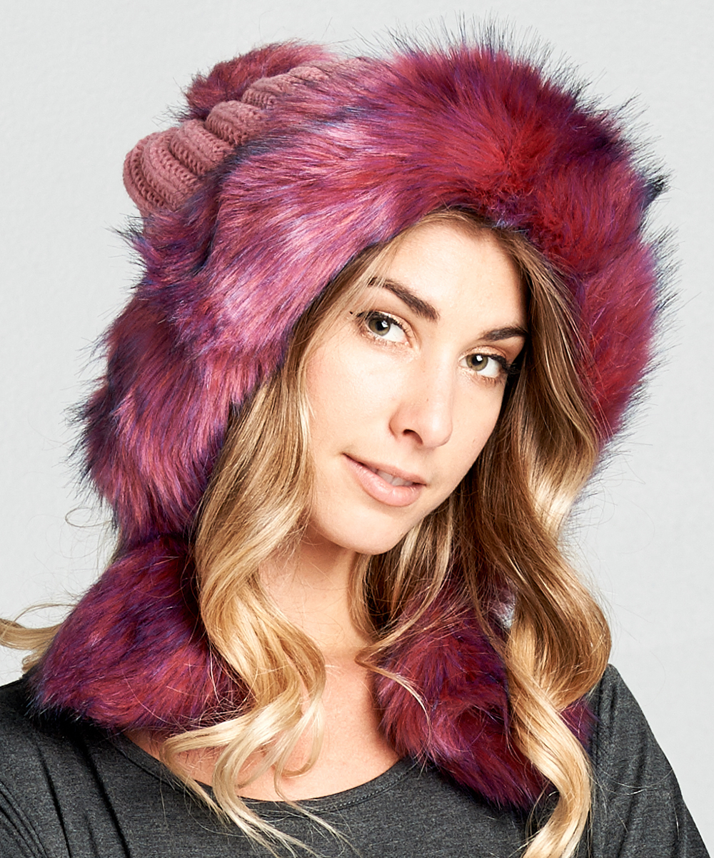 44e96f3f51e love this product Rose Pink Faux Fur Oversize Beanie