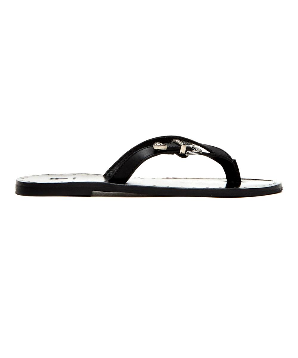 c20623c1b4c4fc Frye Black Ally Western Leather Flip-Flop - Women