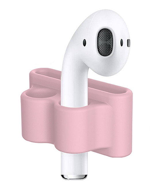 Pink Anti-Lost AirPod Holder Pink Anti-Lost AirPod Holder. Keep track of your wireless AirPods with the help of this handy holder that can fit on a watch strap for added convenience. AirPods not includedSiliconeCompatible with Apple AirPods onlyImported