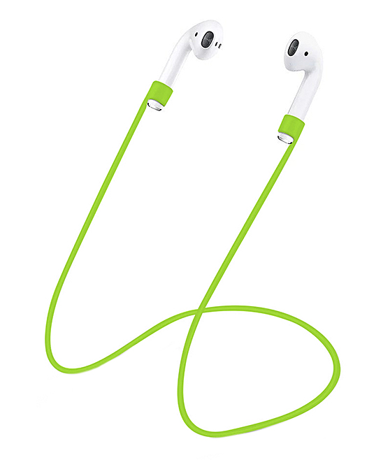 Green Silicone AirPod Anti-Lost Rope Green Silicone AirPod Anti-Lost Rope. Keep track of your wireless AirPods with the help of this silicone rope that holds them snugly. AirPods not includedSiliconeCompatible with Apple AirPods onlyImported