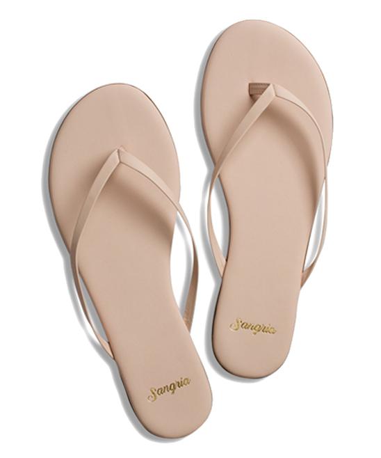688783af595c8 Sangria Sandals Blushing Pink Leather Flip-Flop - Women